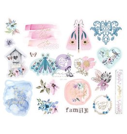 Watercolor Floral: Chipboard Stickers