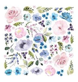 Watercolor Floral: Floral Diecut 62 pcs