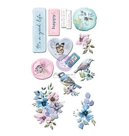 Watercolor Floral: Puffy Stickers