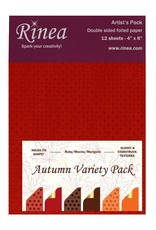Rinea AUTUMN FOILED PAPER VARIETY ARTIST'S PACK