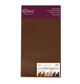 Rinea EARTH TONES FOILED PAPER VARIETY CRAFTER'S PACK