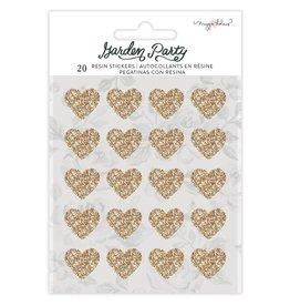 american crafts Garden Party Sticker Gold Glitter