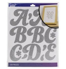 american crafts Sticko Alphabet: Silver Glitter