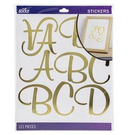 american crafts Sticko Xl Alphabet: Gold Foil