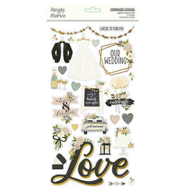 simple stories Happily Ever After - 6x12 Chipboard