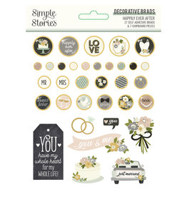 simple stories Happily Ever After - Decorative Brads