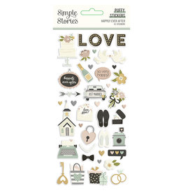 simple stories Happily Ever After - Puffy Stickers
