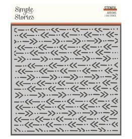 simple stories Safe Travels - 6x6 Stencil - Direction Arrows