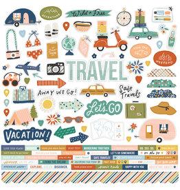 simple stories Safe Travels - Cardstock Sticker