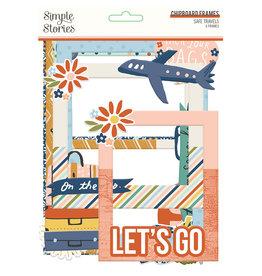 simple stories Safe Travels - Chipboard Frames