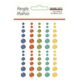 simple stories Safe Travels - Enamel Dots