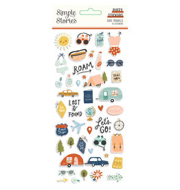 simple stories Safe Travels - Puffy Stickers