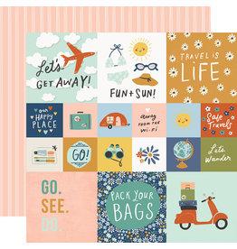 simple stories Safe Travels Paper - 2x2/4x4 Elements