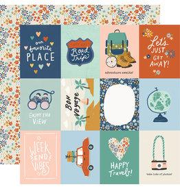 simple stories Safe Travels Paper - 3x4 Elements