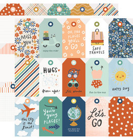 simple stories Safe Travels Paper - Tags