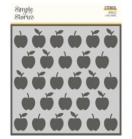simple stories School Life - 6x6 Stencil - Apples
