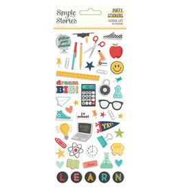 simple stories School Life - Puffy Stickers