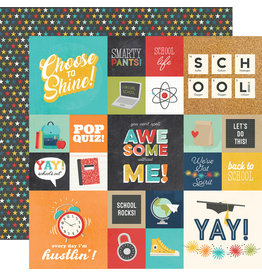simple stories School Life Paper - 2x2 & 4x4 Elements