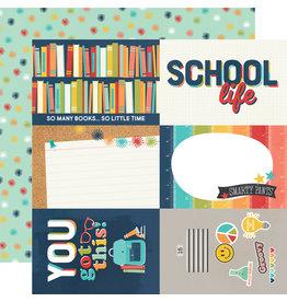 simple stories School Life Paper - 4x6 Elements