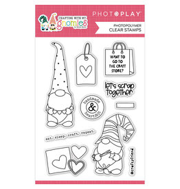 """Photoplay Crafting With My Gnomies: 4""""x6"""" Stamp Set"""