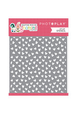 """Photoplay Crafting With My Gnomies: Stencil 6""""x6"""" Hearts"""
