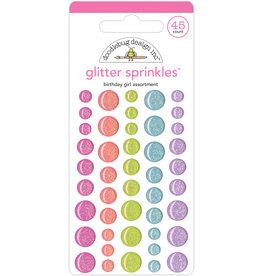 DOODLEBUG birthday girl assortment glitter sprinkles