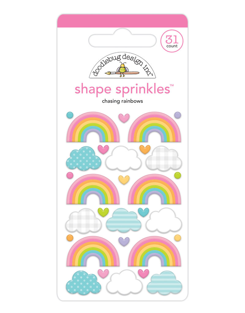 DOODLEBUG cute & crafty: chasing rainbows shape sprinkles
