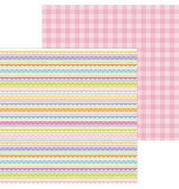 DOODLEBUG easter egg stripe double-sided cardstock