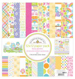 DOODLEBUG fairy garden 12x12 paper pack