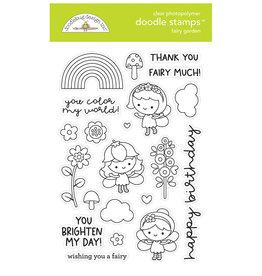 DOODLEBUG fairy garden doodle stamps
