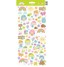 DOODLEBUG fairy garden icons stickers