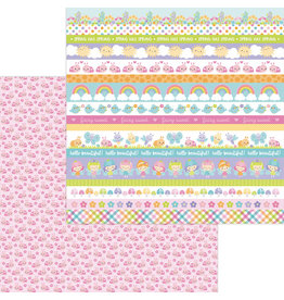 DOODLEBUG little ladies double-sided cardstock