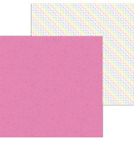 DOODLEBUG pink posies double-sided cardstock