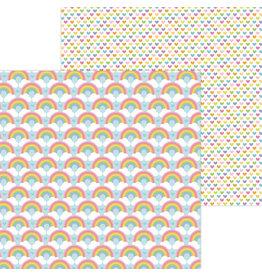 DOODLEBUG rainbow love double-sided cardstock