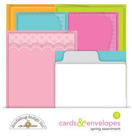DOODLEBUG spring assortment cards & envelopes