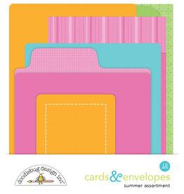DOODLEBUG summer assortment cards & envelopes