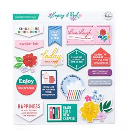 Pink Fresh Keeping it Real Cardstock stickers 16pcs