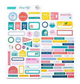 Pink Fresh Keeping it Real Cardstock stickers 87pcs