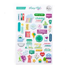 Pink Fresh Keeping it Real Puffy Stickers