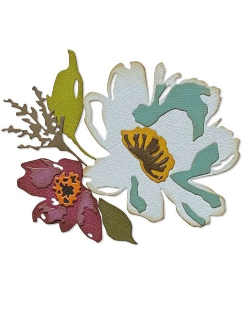 sizzix Brushstroke Flowers #3 Thinlits
