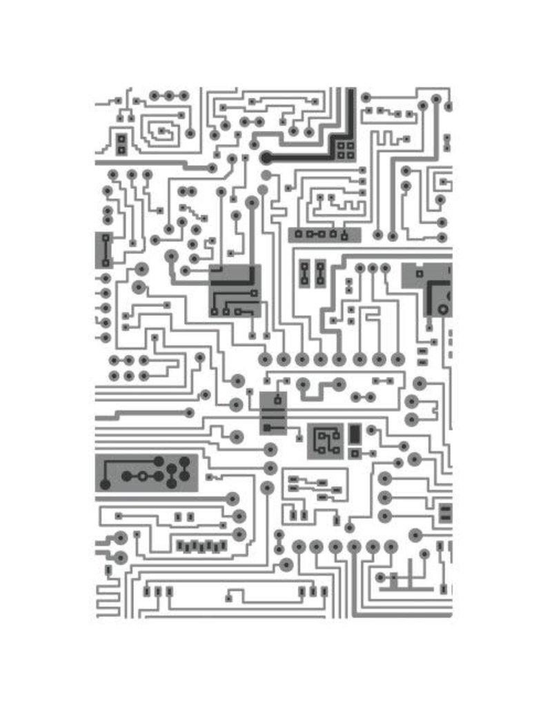sizzix Circuit Textured Impressions Multi-Level Embossing Folder