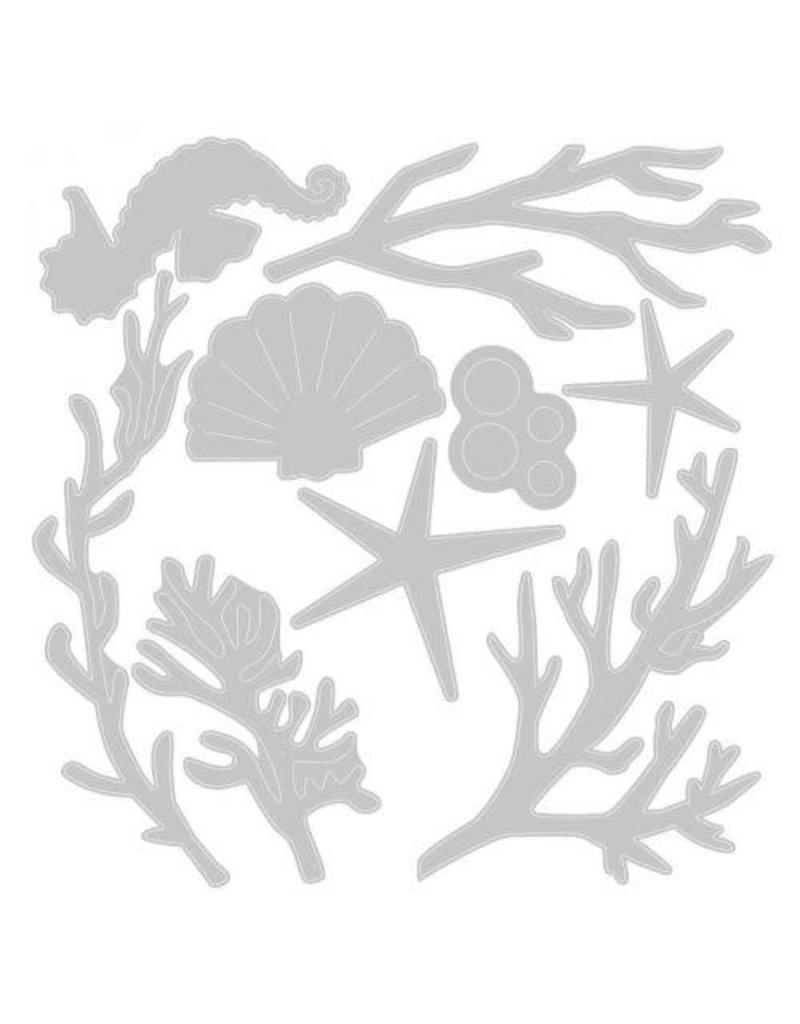 sizzix Coral Wreath Thinlits