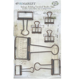 49  and Market Essential Binder Clips: Antique Bronze