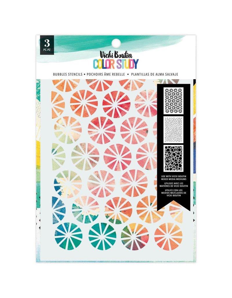 american crafts Color Story: Bubbles Stencil