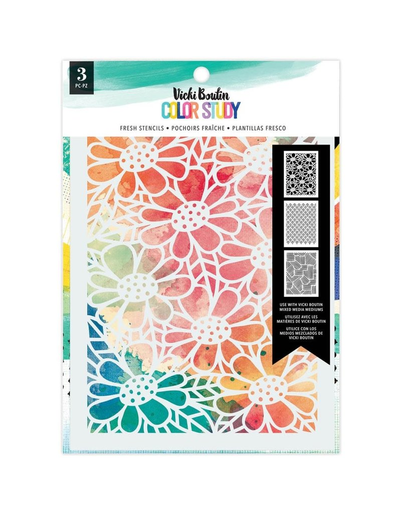 american crafts Color Story: Fresh Stencil