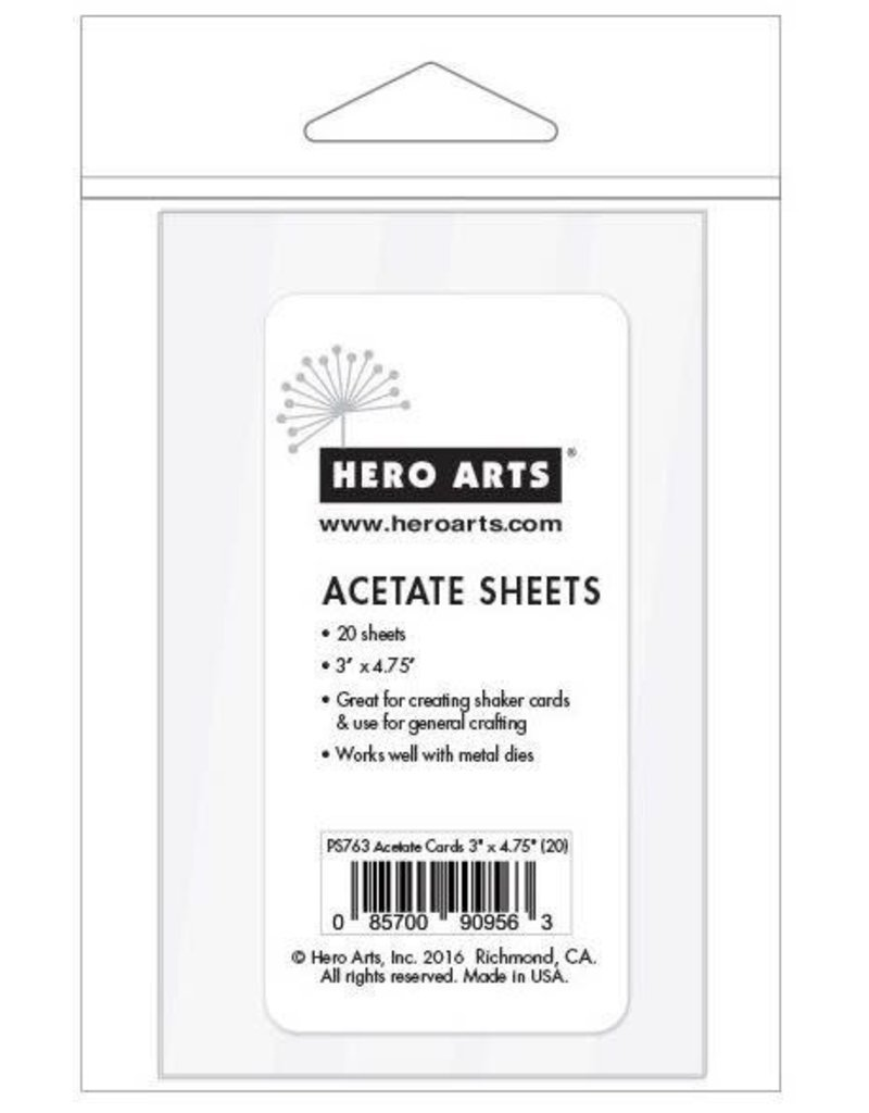 "HERO ARTS Acetate Sheets; 3""x4.75"""