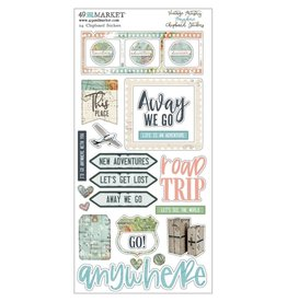 49 AND MARKET Va Anywhere: Chipboard Stickers