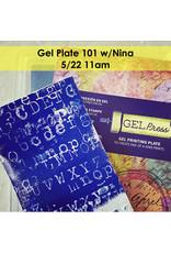 Creative Escape 05/22/21 Gel Plate 101 w/Nina