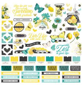 simple stories Simple Vintage Lemon Twist - Cardstock Sticker