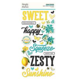 simple stories Simple Vintage Lemon Twist - Foam Stickers
